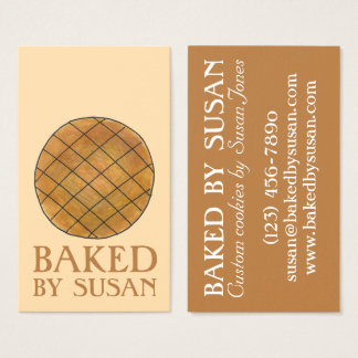 Baked By Peanut Butter Cookie Bakery Baking Food Business Card