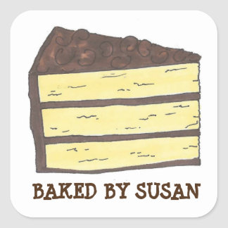 Baked by Personalized Layer Cake Baking Stickers