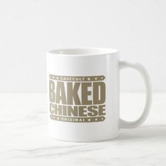 BAKED CHINESE - I Am Expert Dragon Chaser, Gold Basic White Mug