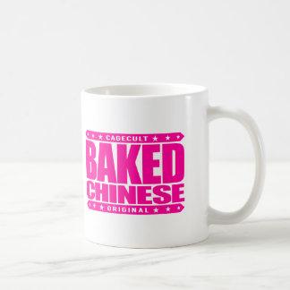 BAKED CHINESE - I Am Expert Dragon Chaser, Pink Basic White Mug