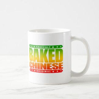 BAKED CHINESE - I Am Expert Dragon Chaser, Rasta Basic White Mug