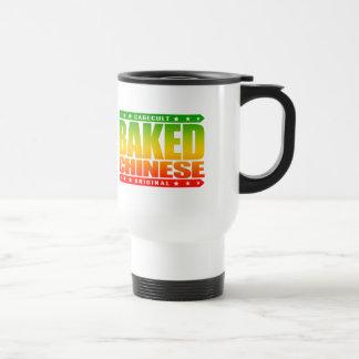BAKED CHINESE - I Am Expert Dragon Chaser, Rasta Stainless Steel Travel Mug