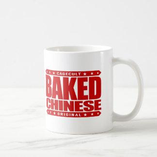 BAKED CHINESE - I Am Expert Dragon Chaser, Red Basic White Mug