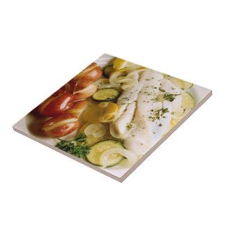 Baked Fish Dinner Tile