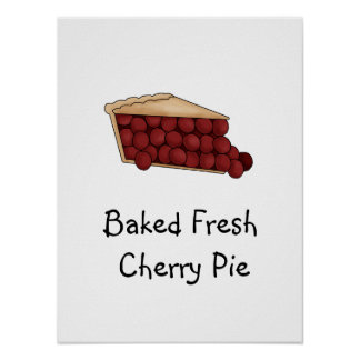 Baked Fresh Cherry Pie Poster