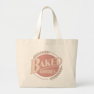 Baked Goodies - Baker Baking Bakery Large Tote Bag
