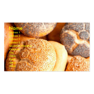 baked goods business cards