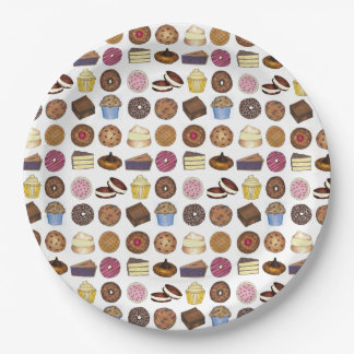 Baked Goods Foodie Muffin Cake Whoopie Pie Cupcake Paper Plate