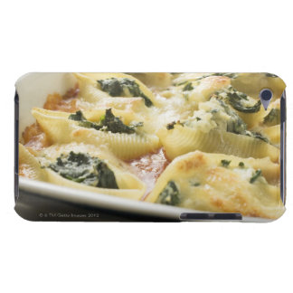 Baked pasta shells with spinach filling barely there iPod covers