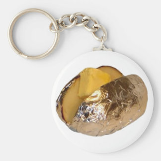 Baked Potato Basic Round Button Key Ring