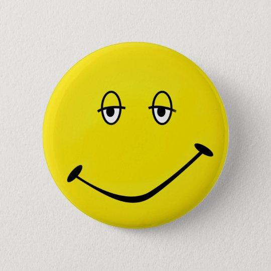 Baked Smiley 6 Cm Round Badge