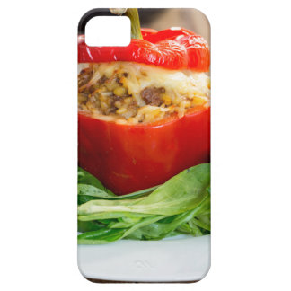 Baked stuffed peppers with meat sauce and cheese iPhone 5 cover