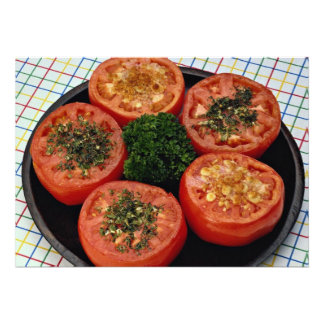 Baked tomato slices personalized invitations