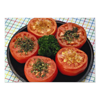 Baked tomato slices 5x7 paper invitation card