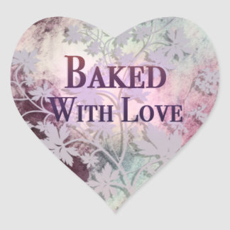 Baked With Love heart stickers (pinks)
