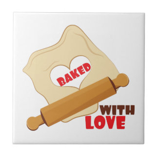 Baked With Love Small Square Tile