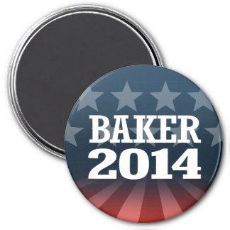 BAKER 2014 7.5 CM ROUND MAGNET
