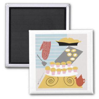 Baker art cakes, pie, cookies Magnet