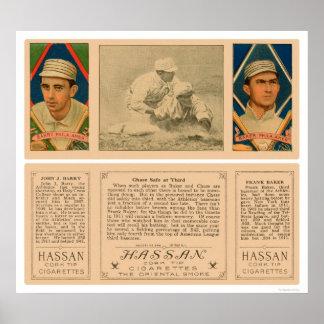 Baker Barry Athletics Baseball 1912 Poster