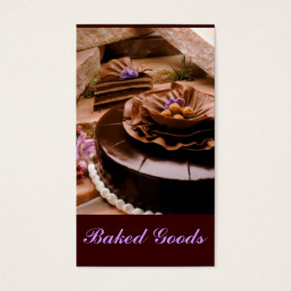 Baker Cake Truffle Business Card