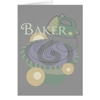 Baker Greeting Card