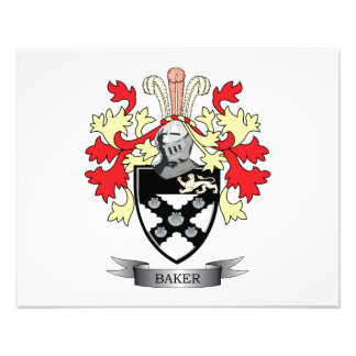 Baker Coat of Arms Photographic Print