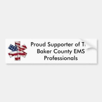 Baker County EMS Professionals Bumpersticker Bumper Sticker