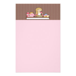 Baker Cupcakes Note Paper Stationery