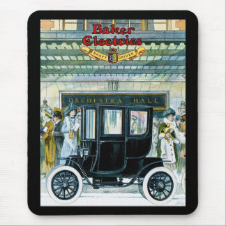 Baker Electric Cars - Vintage Ad Mouse Mat