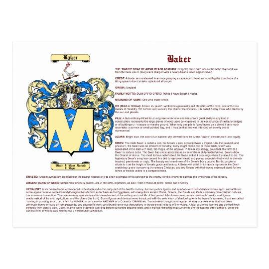 Baker (english) postcard