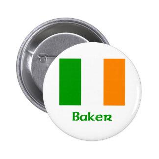 Baker Irish Flag 6 Cm Round Badge