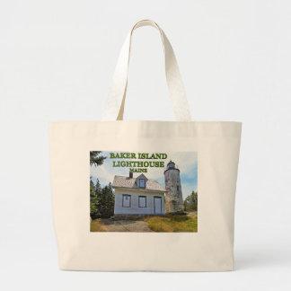 Baker Island Lighthouse, Maine Large Tote Bag