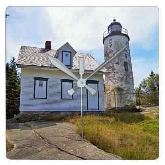 Baker Island Lighthouse, Maine Square Wall Clock