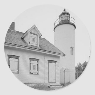 Baker Island Lighthouse Round Stickers