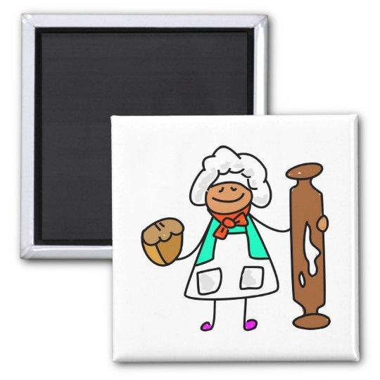 Baker Kid Square Magnet