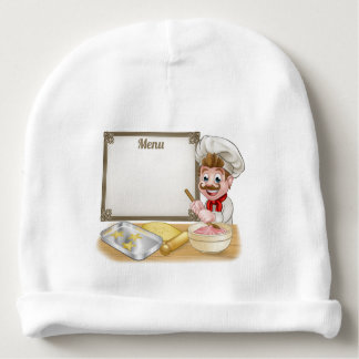 Baker or Pastry Chef Menu Sign Baby Beanie
