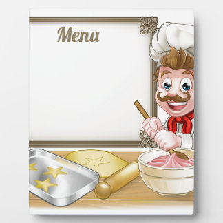 Baker or Pastry Chef Menu Sign Display Plaques