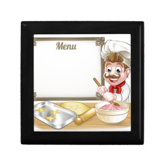 Baker or Pastry Chef Menu Sign Small Square Gift Box