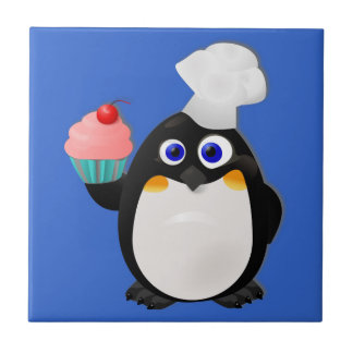 Baker Penguin with Cupcake Tile