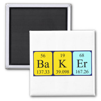 Baker periodic table name magnet