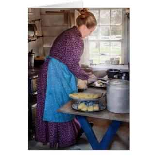 Baker - Preparing Dinner Greeting Card