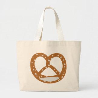 baker pretzel bakery logo symbol jumbo tote bag