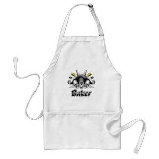 Baker Skull and Kitchen Utensils Standard Apron