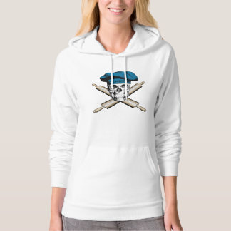 Baker Skull and Rolling Pins: Blue Hoodie