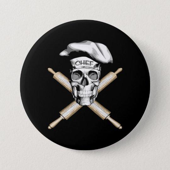 Baker Skull and Rolling Pins: White 7.5 Cm
