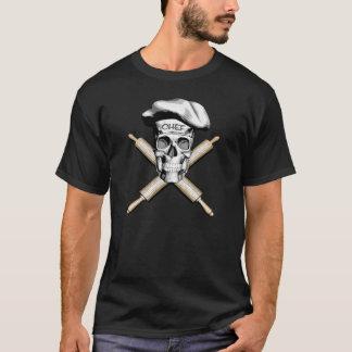 Baker Skull and Rolling Pins: White T-Shirt