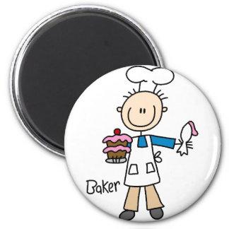 Baker Stick Figure Magnet