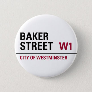 Baker Street Sign 6 Cm Round Badge