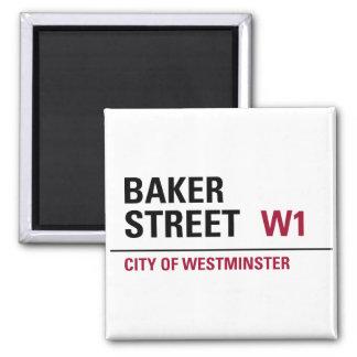 Baker Street Sign Square Magnet