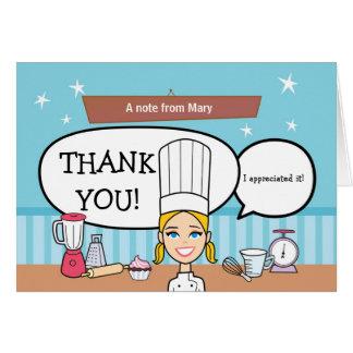 Baker Thank you Card